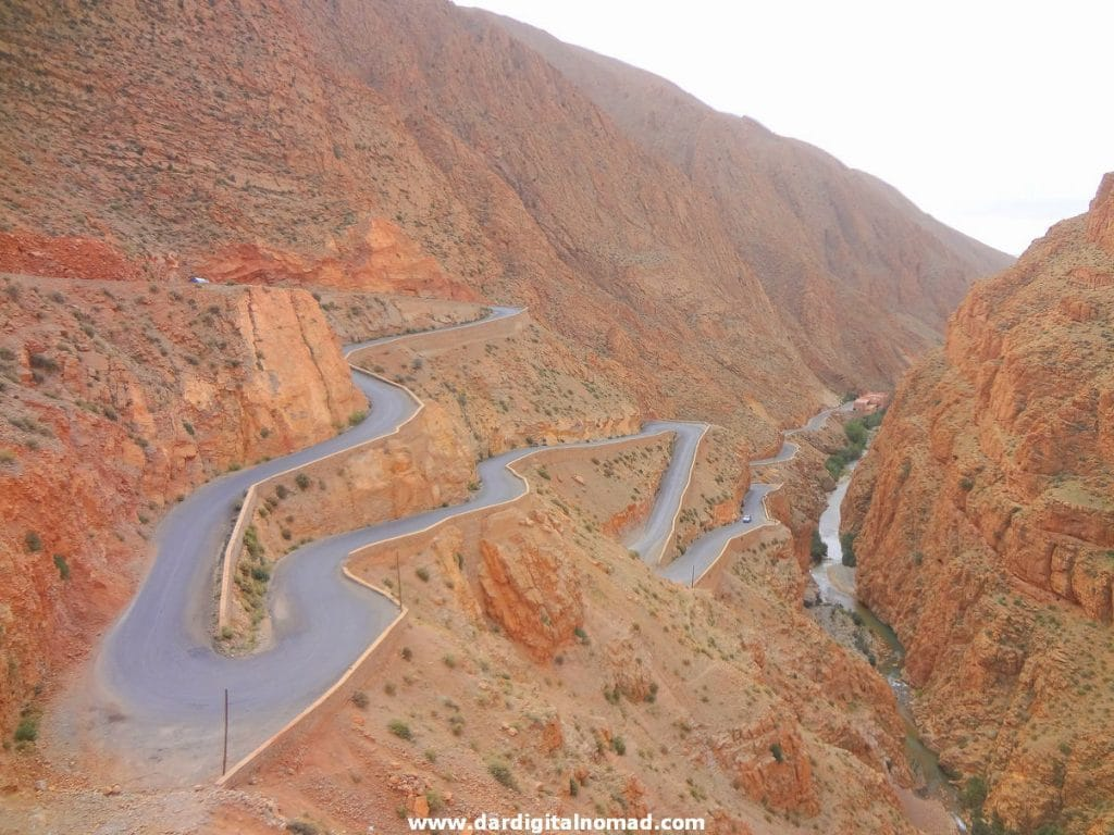Tissadrine Road in Morocco